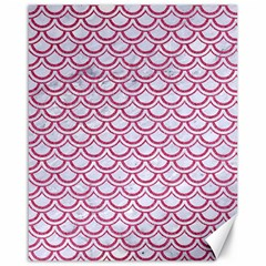 Scales2 White Marble & Pink Denim (r) Canvas 16  X 20