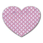 SCALES2 WHITE MARBLE & PINK DENIM (R) Heart Mousepads Front