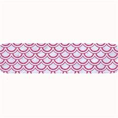Scales2 White Marble & Pink Denim (r) Large Bar Mats