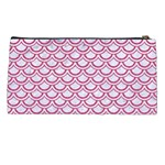 SCALES2 WHITE MARBLE & PINK DENIM (R) Pencil Cases Back