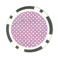 Scales2 White Marble & Pink Denim (r) Poker Chip Card Guard (10 Pack)