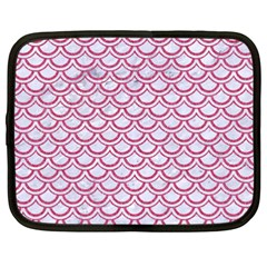 Scales2 White Marble & Pink Denim (r) Netbook Case (xxl)