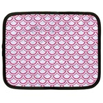 SCALES2 WHITE MARBLE & PINK DENIM (R) Netbook Case (XXL)  Front
