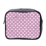 SCALES2 WHITE MARBLE & PINK DENIM (R) Mini Toiletries Bag 2-Side Front