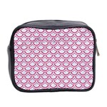 SCALES2 WHITE MARBLE & PINK DENIM (R) Mini Toiletries Bag 2-Side Back