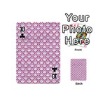 SCALES2 WHITE MARBLE & PINK DENIM (R) Playing Cards 54 (Mini)  Front - Club10