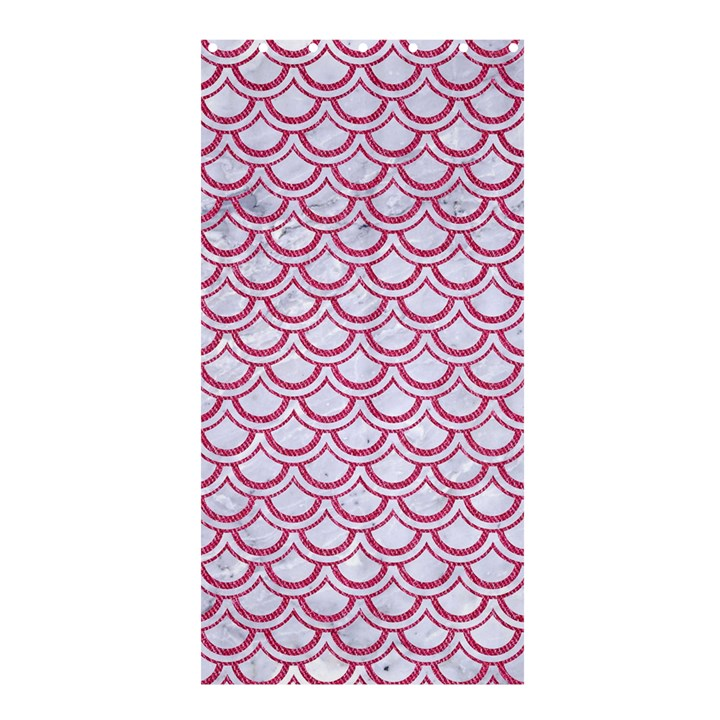 SCALES2 WHITE MARBLE & PINK DENIM (R) Shower Curtain 36  x 72  (Stall)