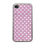 SCALES2 WHITE MARBLE & PINK DENIM (R) Apple iPhone 4 Case (Clear) Front