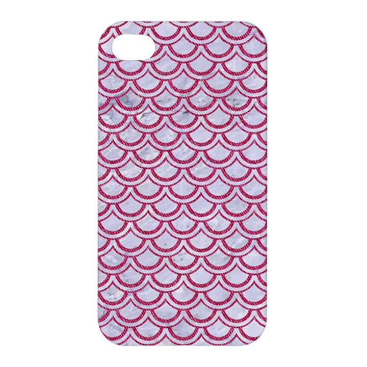 SCALES2 WHITE MARBLE & PINK DENIM (R) Apple iPhone 4/4S Hardshell Case
