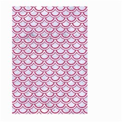 Scales2 White Marble & Pink Denim (r) Large Garden Flag (two Sides)