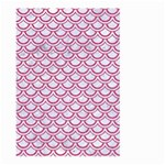 SCALES2 WHITE MARBLE & PINK DENIM (R) Large Garden Flag (Two Sides) Front
