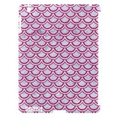 Scales2 White Marble & Pink Denim (r) Apple Ipad 3/4 Hardshell Case (compatible With Smart Cover)