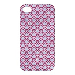 Scales2 White Marble & Pink Denim (r) Apple Iphone 4/4s Premium Hardshell Case