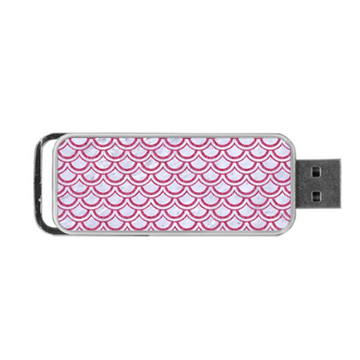 SCALES2 WHITE MARBLE & PINK DENIM (R) Portable USB Flash (One Side)
