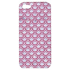Scales2 White Marble & Pink Denim (r) Apple Iphone 5 Hardshell Case by trendistuff