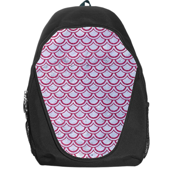 SCALES2 WHITE MARBLE & PINK DENIM (R) Backpack Bag