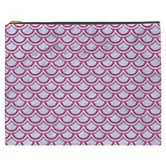 Scales2 White Marble & Pink Denim (r) Cosmetic Bag (xxxl)