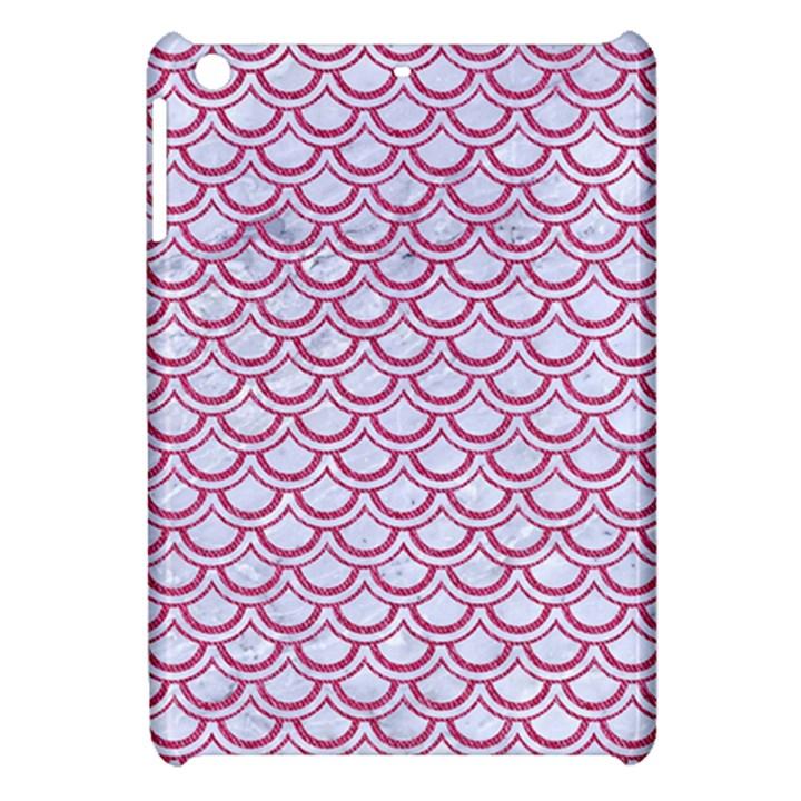 SCALES2 WHITE MARBLE & PINK DENIM (R) Apple iPad Mini Hardshell Case