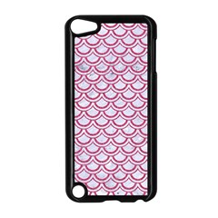 Scales2 White Marble & Pink Denim (r) Apple Ipod Touch 5 Case (black)