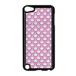 SCALES2 WHITE MARBLE & PINK DENIM (R) Apple iPod Touch 5 Case (Black) Front