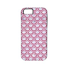Scales2 White Marble & Pink Denim (r) Apple Iphone 5 Classic Hardshell Case (pc+silicone)