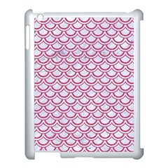 Scales2 White Marble & Pink Denim (r) Apple Ipad 3/4 Case (white) by trendistuff