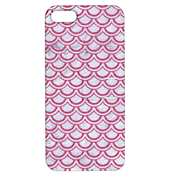 SCALES2 WHITE MARBLE & PINK DENIM (R) Apple iPhone 5 Hardshell Case with Stand