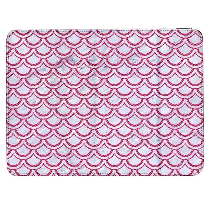 SCALES2 WHITE MARBLE & PINK DENIM (R) Samsung Galaxy Tab 7  P1000 Flip Case