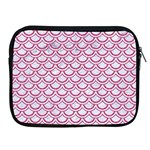SCALES2 WHITE MARBLE & PINK DENIM (R) Apple iPad 2/3/4 Zipper Cases Front