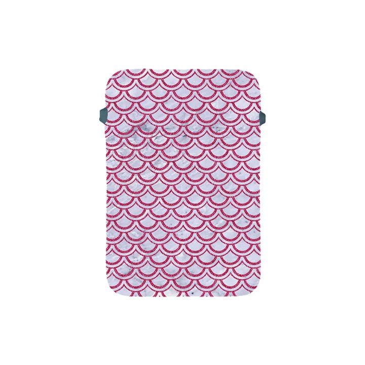 SCALES2 WHITE MARBLE & PINK DENIM (R) Apple iPad Mini Protective Soft Cases