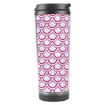 SCALES2 WHITE MARBLE & PINK DENIM (R) Travel Tumbler Right