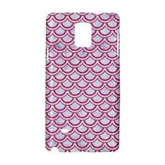 Scales2 White Marble & Pink Denim (r) Samsung Galaxy Note 4 Hardshell Case