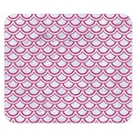 SCALES2 WHITE MARBLE & PINK DENIM (R) Double Sided Flano Blanket (Small)  50 x40 Blanket Back