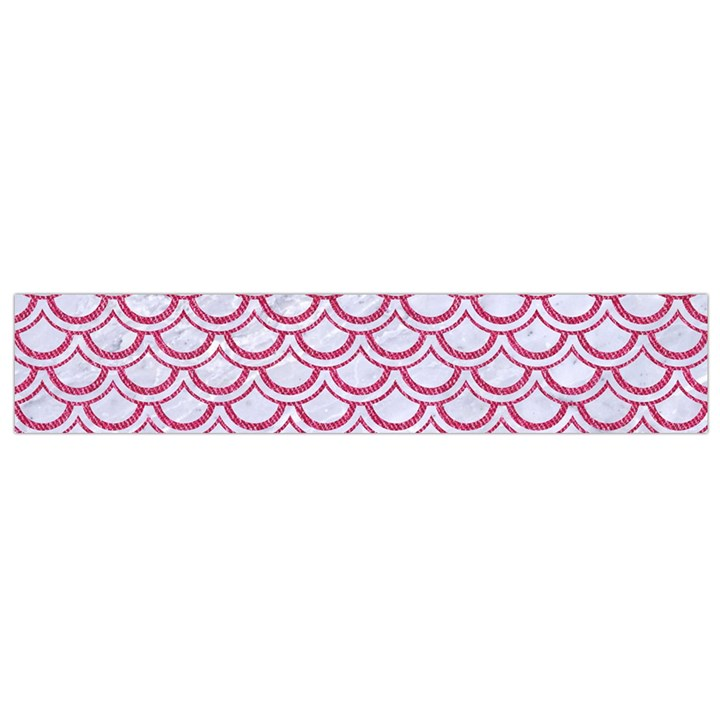SCALES2 WHITE MARBLE & PINK DENIM (R) Small Flano Scarf