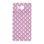 SCALES2 WHITE MARBLE & PINK DENIM (R) Samsung Galaxy Alpha Hardshell Back Case Front