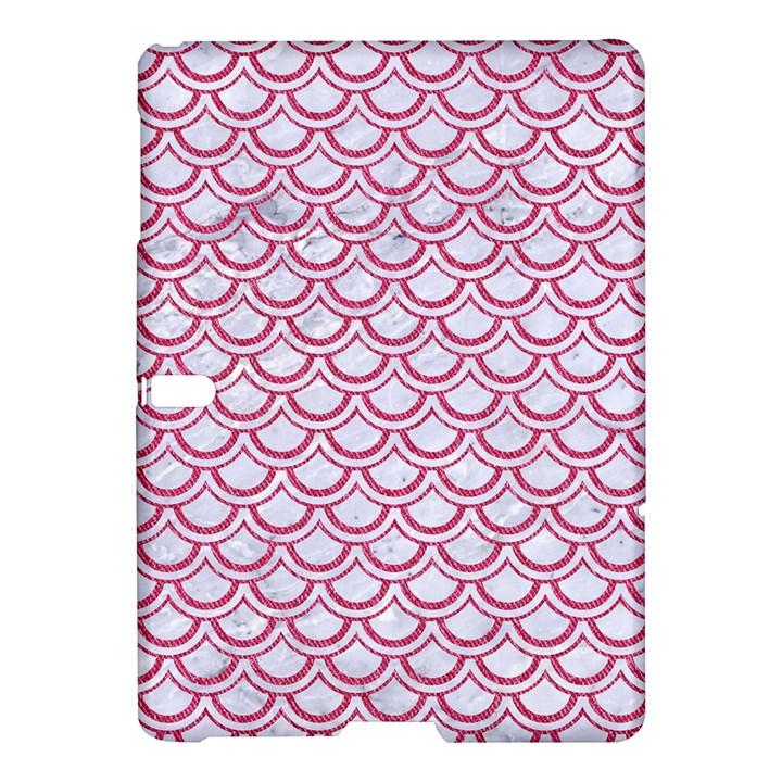 SCALES2 WHITE MARBLE & PINK DENIM (R) Samsung Galaxy Tab S (10.5 ) Hardshell Case