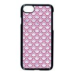 SCALES2 WHITE MARBLE & PINK DENIM (R) Apple iPhone 7 Seamless Case (Black) Front