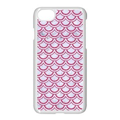Scales2 White Marble & Pink Denim (r) Apple Iphone 7 Seamless Case (white) by trendistuff