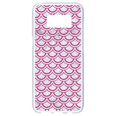 Scales2 White Marble & Pink Denim (r) Samsung Galaxy S8 White Seamless Case