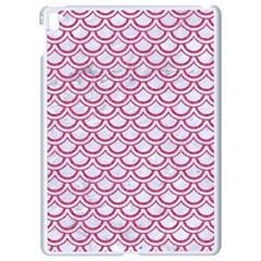 Scales2 White Marble & Pink Denim (r) Apple Ipad Pro 9 7   White Seamless Case