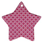 SCALES2 WHITE MARBLE & PINK DENIM Ornament (Star) Front