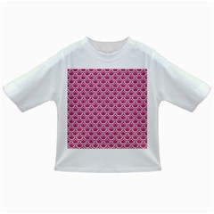 Scales2 White Marble & Pink Denim Infant/toddler T Shirts