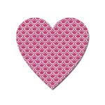 SCALES2 WHITE MARBLE & PINK DENIM Heart Magnet Front