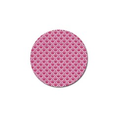 Scales2 White Marble & Pink Denim Golf Ball Marker (4 Pack) by trendistuff