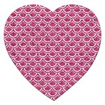 SCALES2 WHITE MARBLE & PINK DENIM Jigsaw Puzzle (Heart) Front