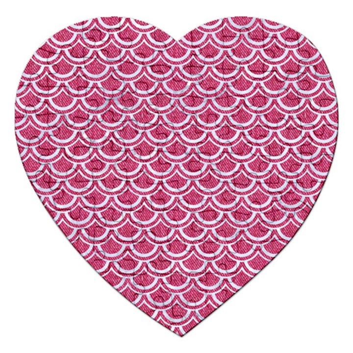 SCALES2 WHITE MARBLE & PINK DENIM Jigsaw Puzzle (Heart)