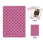 SCALES2 WHITE MARBLE & PINK DENIM Playing Card Back