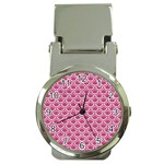 SCALES2 WHITE MARBLE & PINK DENIM Money Clip Watches Front