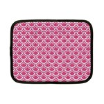 SCALES2 WHITE MARBLE & PINK DENIM Netbook Case (Small)  Front