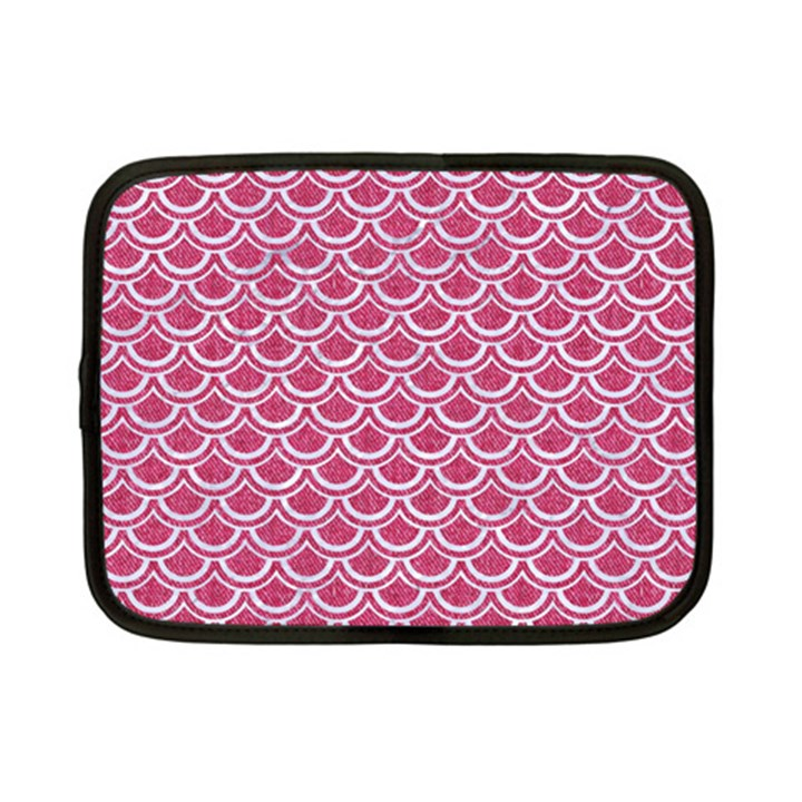 SCALES2 WHITE MARBLE & PINK DENIM Netbook Case (Small)